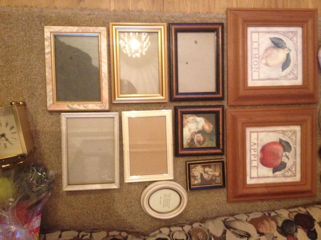 Photo frames and ornaments job lot