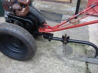 villiters garden tractor plough full working ready to go