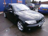 2005 BMW 1SERIES 1.9 DIESEL, 5DOOR,BLACK, SERVICE HISTORY, NICE CLEAN CAR,DRIVES VERY NICE,HPI CLEAR