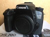 Canon 70D Body plus Canon 85mm f.1.8 - Canon 50mm f.1.8