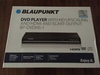 BRAND NEW Blaupunkt DVD Player With Hd Upscaling & Hdmi & Sc RRP£26 OUR PRICE £19.99