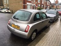 Silver Nissan Micra - £350 MOT expires Dec 2017, fuel-efficient and reliable