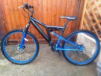 "Dunlop 26"" full suspension double disc brake mountain bike"