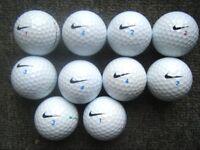10 NIKE PLATINUM golf balls in super condition now quite rare