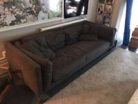 Habitat Newman 3 Seater Charcoal Sofa