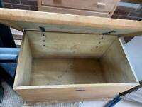 Solid oak chest - coffee table - side table