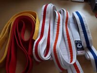 Selection of 6 Judo Belts