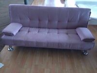 New Dusky Pink Fabric Sofa Bed (FREE LOCAL DELIVERY!!!)