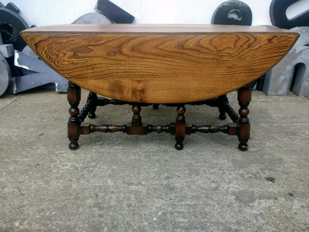 Vintage Ercol Drop Leaf Coffee Table
