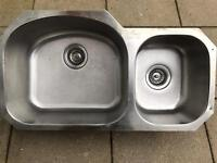 Stainless Steel 1 and a half bowl sink