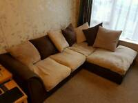 3 and 2 seater sofa excellent condition. Brown/cream
