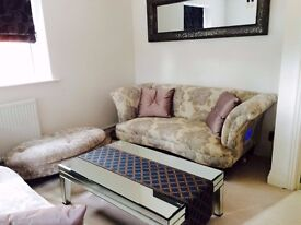 Concerto 2 seater Sofa & Glass coffee table
