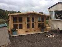 14x8 log cabin with porch