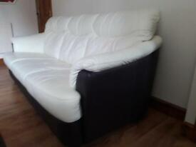 Immaculate 3 and 2 seater leather sofas