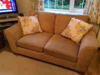 Marks and Spencer 2 x 2 seater sofas and armchair in gold fabric
