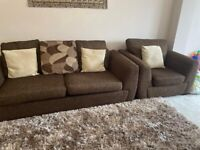 Fabric sofa set 3+3+1