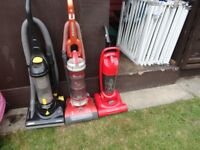 3 cheep hoovers for sale all working order can see them working