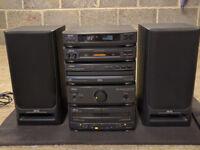 AKAI Triple CD Changer & Double Cassette Player