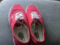 Brand new red Vans shoes- size UK 7