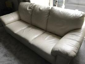 Leather sofa with foot stall