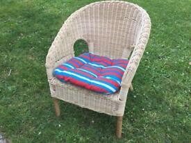 Kids Wicker Chair