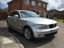 BMW 1 Series - full leather, a/c, parking aid, aux, 5 door, Silver 1.6L Petrol £1,895