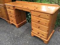 Solid pine ducal desk with dovetail joints. Possible Delivery