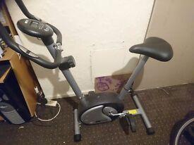 Battery operated exercise bike machine