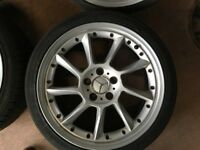 Set of 4 Mercedes AMG style 18 inch alloy Leon, Golf, A4 etc