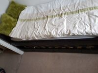 SINGLE BED WITH STORAGE AND PULL OUT BED INCLUDING 2 MATTRESSES