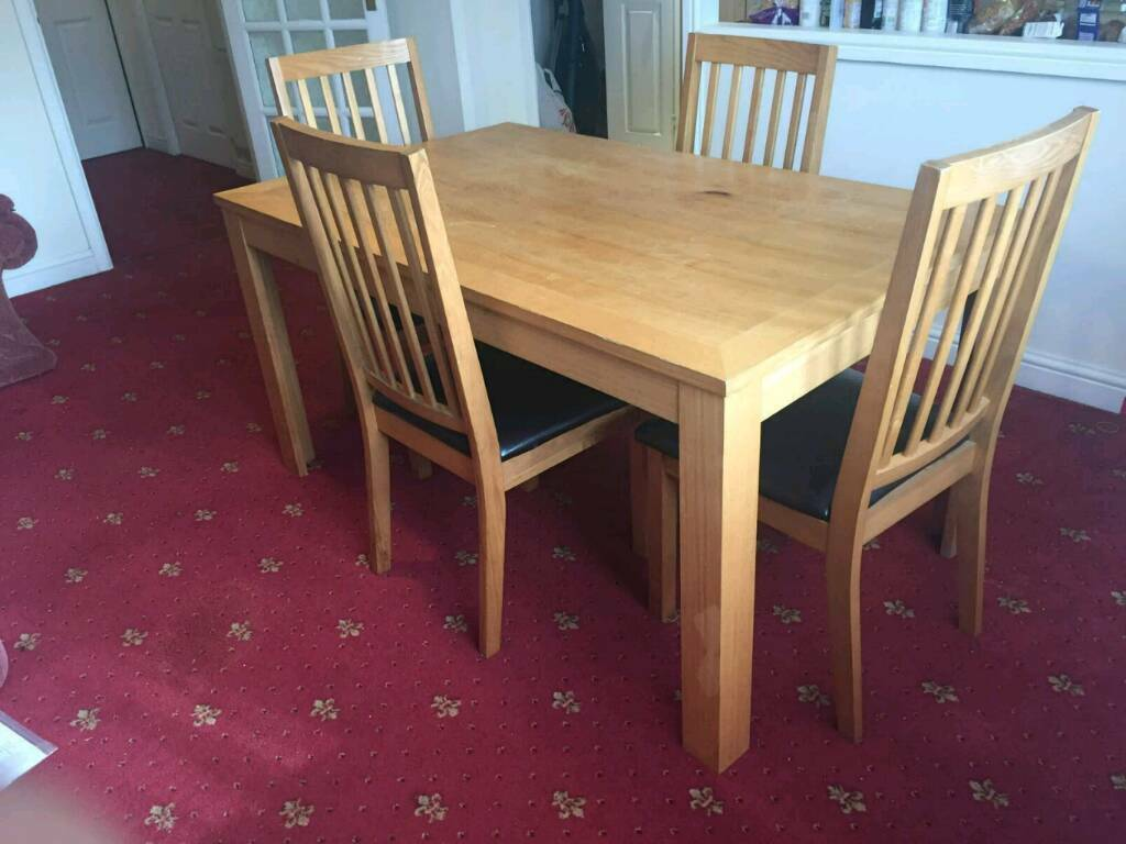 Excellent Condition Dining Table With Chairs For Sale Sheffield