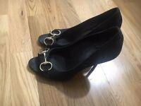 Gucci High Heal Peep Toe Shoes