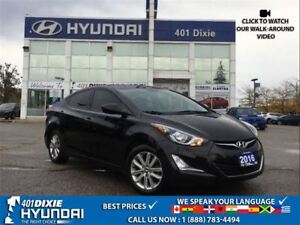 2016 Hyundai Elantra SPORT|1 OWNER|BACK UP CAMERA|ALLOYS|SUNROOF