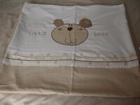Dunelm Mill Little Bear Teddy Neutral Cot Bed Duvet Cover and Fogarty Duvet