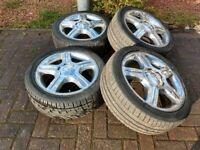 "Mercedes Alloys 17"" with 215 45 17 tyres"