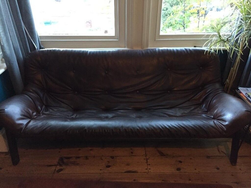 Magnificent A Retro Vintage 1960S Faux Leather Sling Style Sofa In Brighton East Sussex Gumtree Cjindustries Chair Design For Home Cjindustriesco