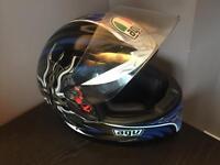 AGV Motorbike helmet with built in sunshades