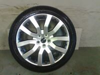 ALLOYS X 4 OF 20 INCH GENUINE RANGEROVER/DISCOVERY FULLY POWDERCOATED INA STUNNING SHADOWCHROME NICE