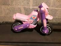 Pink motorcycle ride on