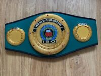 IBO boxing time world champion belt not gloves
