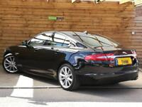 Jaguar XF 2.2d [200] R-Sport 4dr Auto DEMO + ONE PRIVATE OWNER (ultimate black metallic) 2013