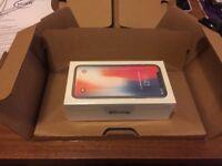 I phone X 256GB brand new sealed sim free