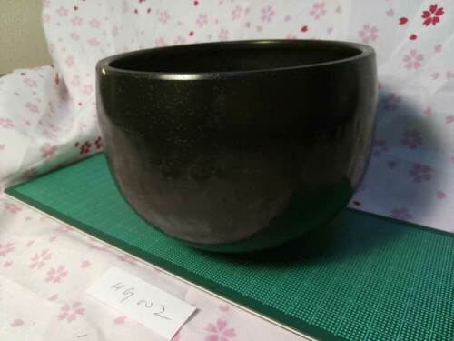 """4.882"""" Japanese Vintage Buddhist Copper Bell machine-pounded Forged HG002"""