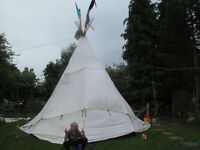 GUMBO WIGWAM FAERIE FEST SPECIAL 18 FOOT TAL EASY POP UP MAKES A GREAT SHOW
