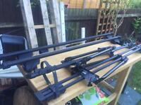 Thule rapid system set and two bike holders