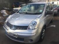 2008 nissan note 1.4 s low mls only 82k mls long mot new tyres ideal fam car