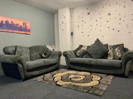 Grey & Black sofas 3&2 delivery 🚚 sofa suite couch