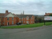 Laceyfields Rd, Heanor. One bedroom first floor flat. Set back from road on private grounds