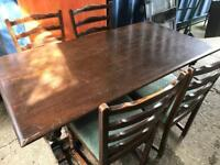 Oak dining table and 4 chairs with FREE DELIVERY PLYMOUTH AREA