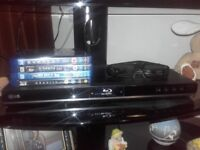 LG blu-ray player with 4x active 3d glasses